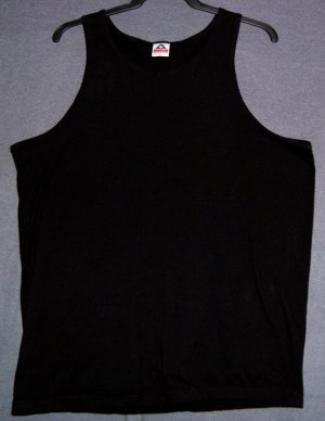 Tank top NEW black cotton XL