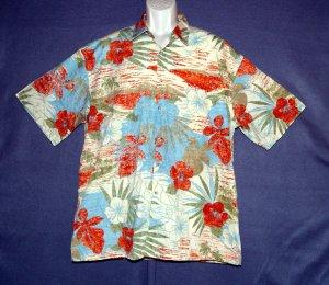 NEW Hawaiian sports shirt Pierre Cardin cotton floral XL