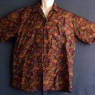 Sports shirt Washable Thai silk paisley XL