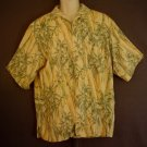 Washable silk Jamaica Jaxx Hawaiian sports shirt. Bamboo print. Size XXL