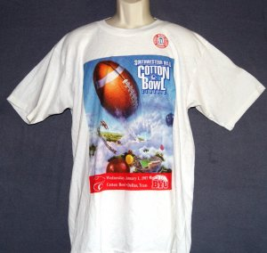 New vintage football tee shirt Cottonbowl classic dallas TX BYU 1997