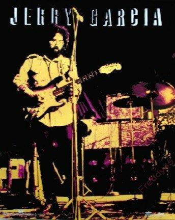 JERRY GARCIA POSTER~GRATEFUL DEAD~Fender Stratocaster~16x20~NOT REPRO