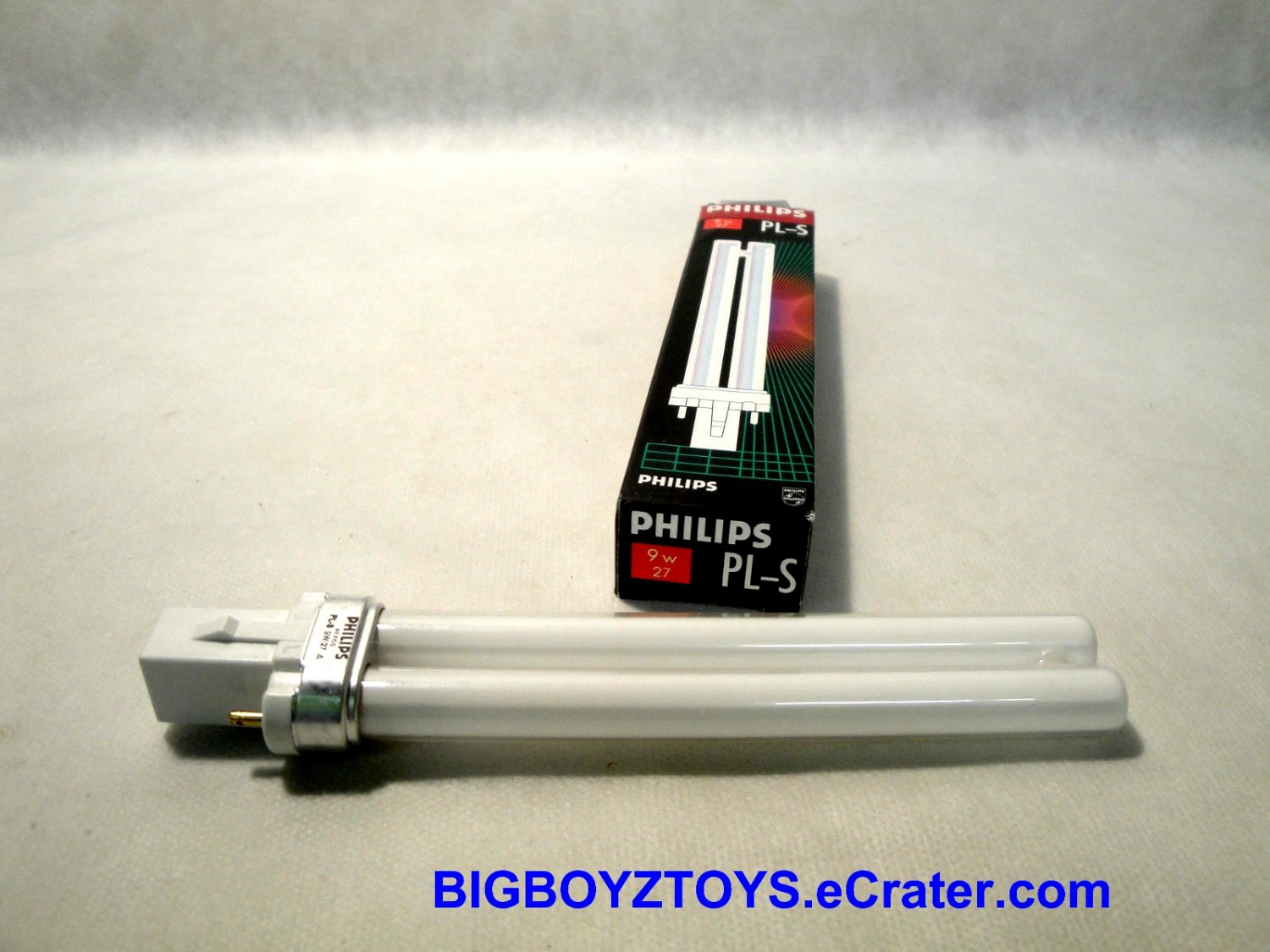 Philips PL-S 9w27 CFL Compact Fluorescent Light Bulb~Lamp~2 Pin~NIB