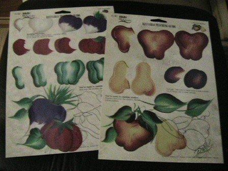 FolkArt  One Stroke,Vegetables,Fruit Medley Teaching Guides,reusable