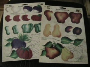 FolkArt  One Stroke,Vegetables,Fruit Medley Teaching Guides,reusable