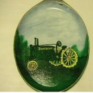 Old John Deere Tractor  with Iron Wheels on a Handpainted Cast Iron Skillet