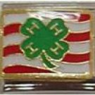 4 H Four H ITALIAN CHARM CLUB ANIMALS COUNTRY CLOVER