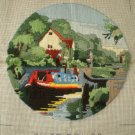 Waterways Lock Keepers Cottage Completed Longstich Embroidery Needlework Art