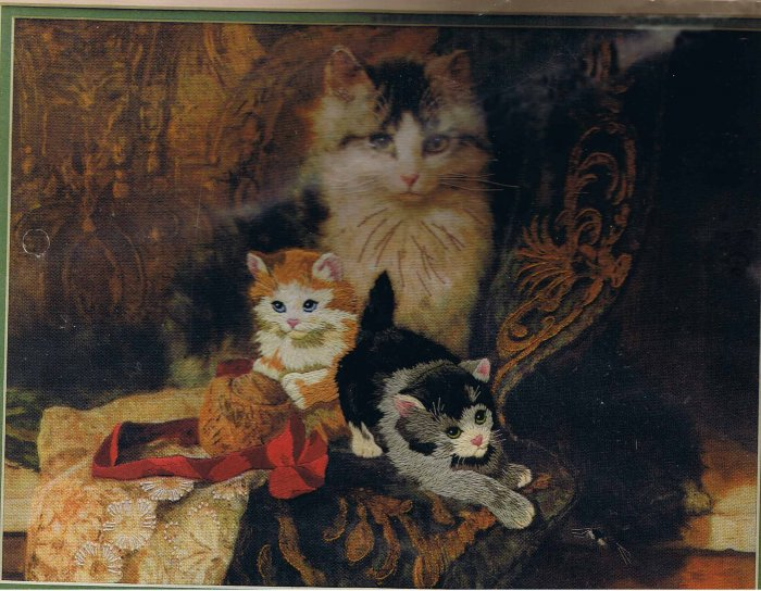 Dimensions Her Majesty's Kittens Crewel Embroidery Kit