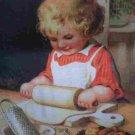 Victorian Child Christmas Baking Needlepoint /Tapestry Kit