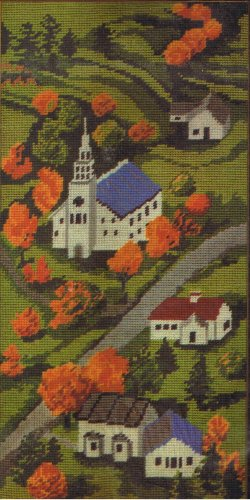 Creatique Village Church with Steeple Needlepoint/Tapestry Kit ON SALE!!