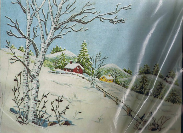 Paragon Winter Wonderland Crewel Kit by Veres