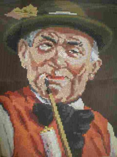 "Ropi Gobelin Der Fidele Bauer ""The Happy Farmer"" portrait Needlepoint/Cross stitch/Tapestry kit"