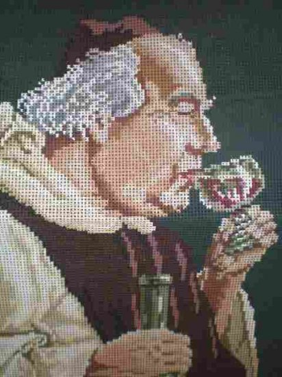 """Ropi Gobelin  Der Kellermeister """"The Winetaster"""" portrait Needlepoint/Cross stitch/Tapestry Kit"""