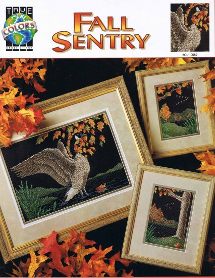 "True Colors Cross Stitch ""Fall Sentry"" Goose Chart"