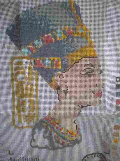 The Craft Collection Nefertiti Egyptian Needlepoint/Half cross-stitch/Tapestry Kit