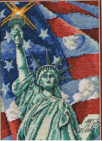 Dimensions Gold Collection Petites Liberty's Home counted Cross Stitch Design