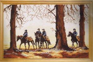 DMC Dawn Riders Horseback Counted Cross Stitch Kit
