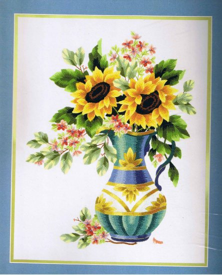 Elsa Williams Sunflower Jubilee Crewel Stitchery Kit