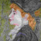 """Trammed / Tramme Kit repro of Renoir's """"Girl with a Hat"""""""