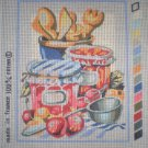 "SALE SEG Kitchen ""Jams"" Tapestry Needlepoint Starter Canvas and Yarn"