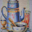 "SALE SEG Kitchen ""Morning Coffee"" Tapestry Needlepoint Starter Kit - Canvas and Yarn"