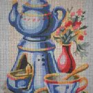 "SALE SEG Kitchen ""Morning Tea"" Tapestry Needlepoint Starter Kit - Canvas and Yarn"