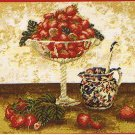 DMC Strawberry and Cream Kitchen Tapestry / Needlepoint Kit