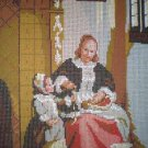 "DMC Die Apfelschalerin ""The apple peeler"" Kitchen Tapestry / Needlepoint Kit"