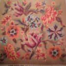 """Vintage Penelope Needlework Tapestry Kit """"Queen Anne"""" Floral seat cover"""