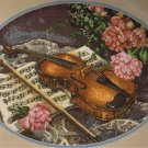 Sunset Fancy Fiddle Music and Violin by Lena Liu Tapestry/Needlepoint kit