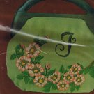RARE LeeWards Dogwood Blossoms Handbag - Crewel Vintage Item