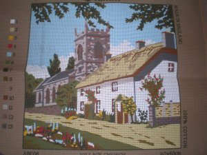 Anchor Village Church  Tapestry / Needlepoint / Cross Stitch Kit