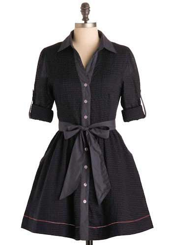 Navy checkered Dress - size Small NWT