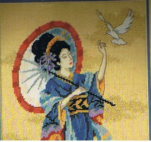 """""""Oriental Elegance"""" Dimensions Needlepoint kit by Wendy Schuster"""