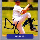Greg Miller 2003 Just Prospects Preview Autographed