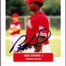 Ryan Howard 2004 Just Prospects Autographed