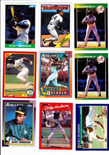 Rickey Henderson Lot of 6  1990 Topps #450