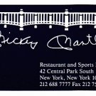 Mickey Mantle Restaurant and Sports Bar Business Card