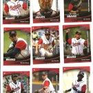 2009 Gwinnett Braves Unopened Team Set Glavine Hanson