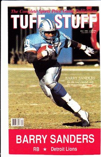 Barry Sanders 1990 Tuff Stuff #4 Neatly Hand cut