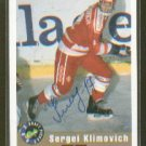 Sergei Klimovich 1992 Draft Picks Autograph Card