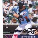 Dustin Geiger  Autographed 2014 Tennessee Smokies