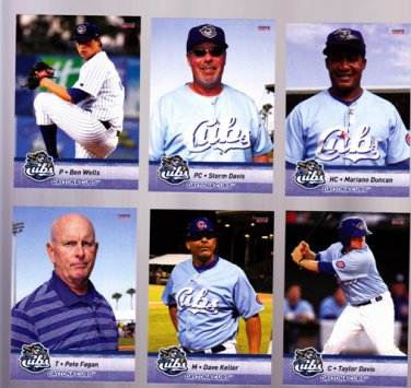 Mariano Duncan  Lot of 5 cards  2013 Daytona Cubs