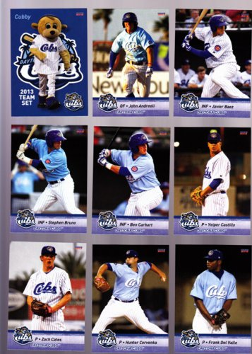 Zach Cates    Lot of 5 cards  2013 Daytona Cubs