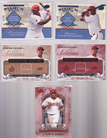 Justin Upton FH-1 2008 UD Piece of History Franchise History RED #/149