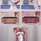 Justin Upton #3 2008 UD Piece of History RED #/149