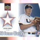 Michael Aubrey 2002 UD Rookie Update USA Future Watch Swatch