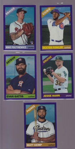 Evan Gattis #707 2015 Topps Heritage High # Purple Refractor