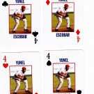 Yunel Escobar 2008 Richmond Braves 4 cards - 1 each suit